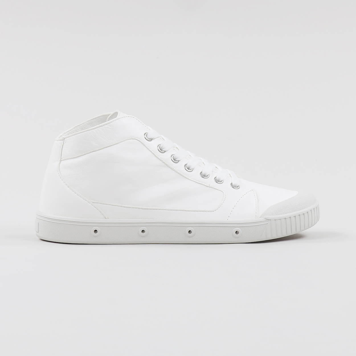 b0f74be2b8f Spring Court M2 Lambskin Leather Mid Top Tennis Shoes White £102.86