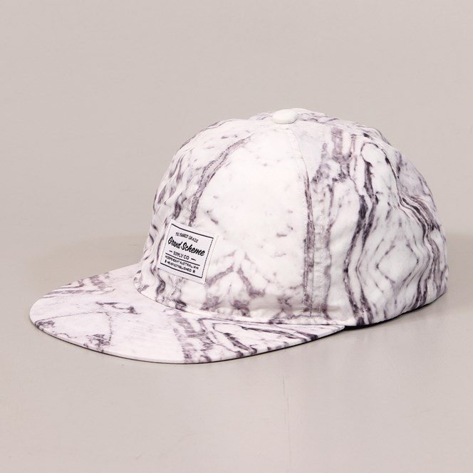Grand Scheme Supply Co. Marble Five Panel Cap White