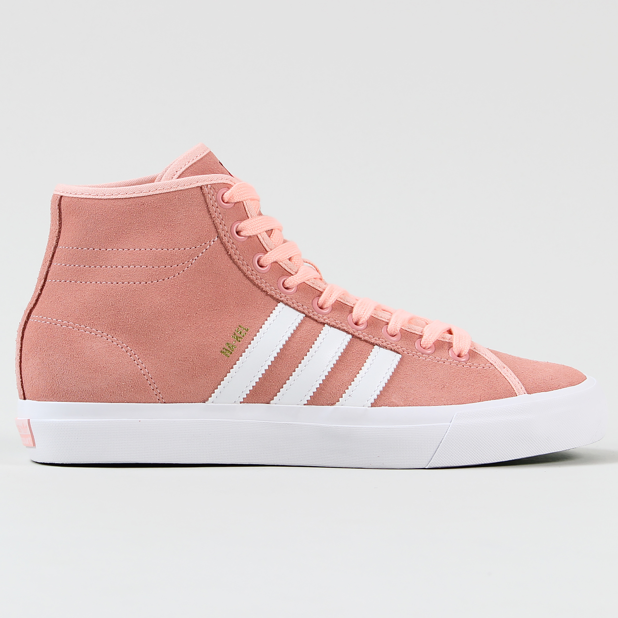 Adidas Matchcourt High Remix Nakel Smith Shoes Haze Coral White £52.47 dee3bffec