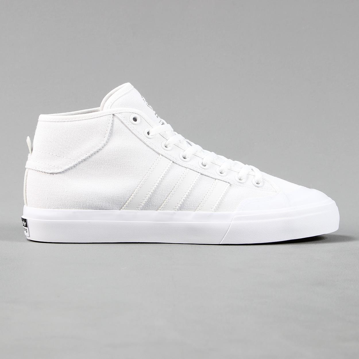 098e2be050 Image is loading Adidas-Skateboarding-Matchcourt-Mens-Mid-Tops-White-Canvas-