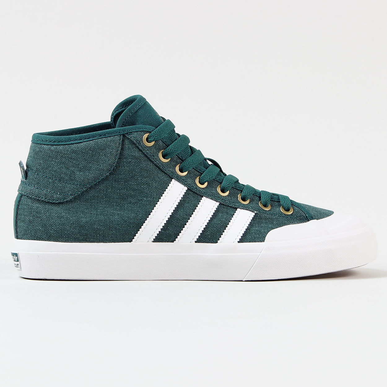 hot sale online 73d0c be364 Adidas Skateboarding Mens Matchcourt Mid ADV Shoes Green Whi