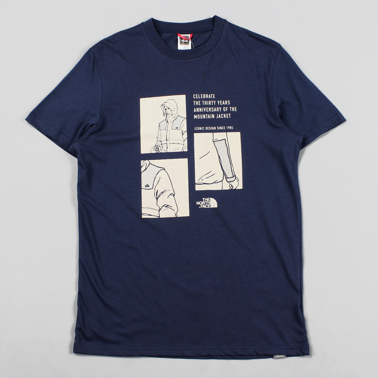 212d1375f The North Face mountain celebration mens t-shirt navy blue £17.50
