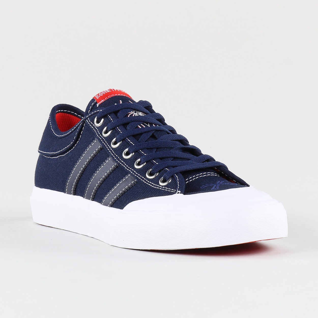 new style 970e3 a3aa7 Adidas x Bonethrower Colab Matchcourt Shoes Navy White Red ...
