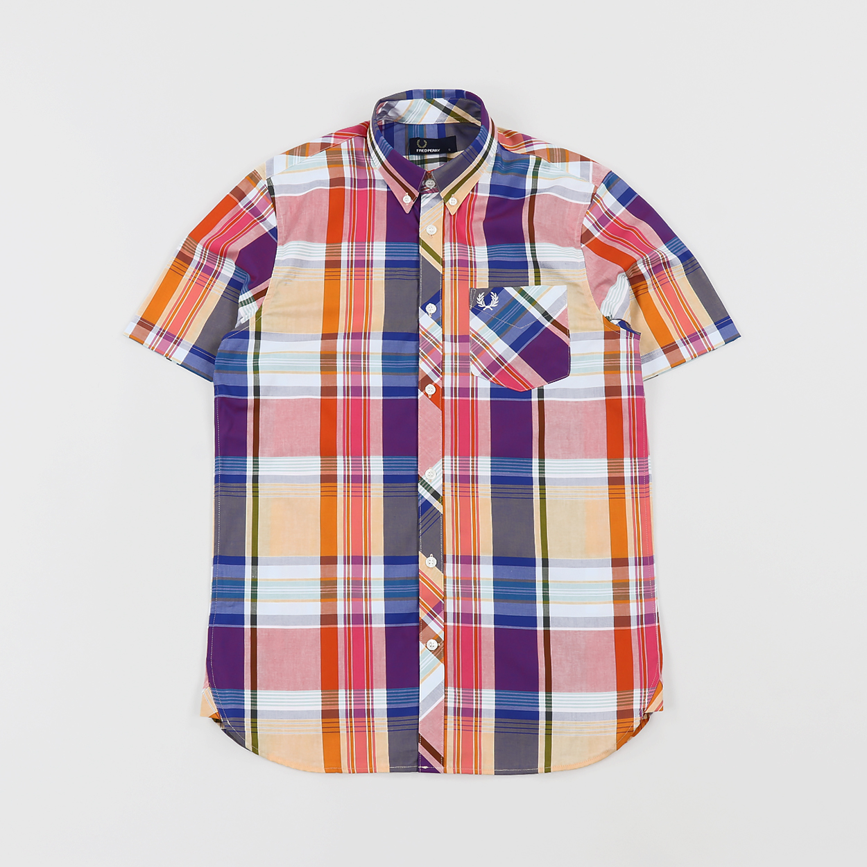 fred perry madras shirt