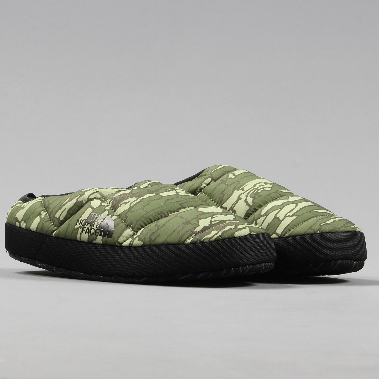 & The North Face Mens Nuptse Tent Mules III Slippers Camo Black £36.00
