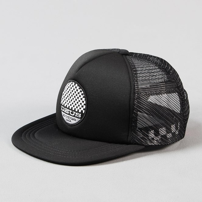 Deus Ex Machina Moto Trucker Cap Black