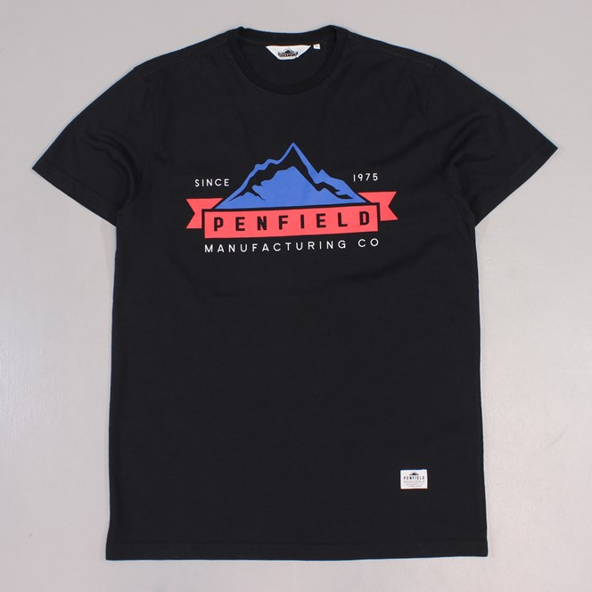 Penfield Mountains T Shirt Black