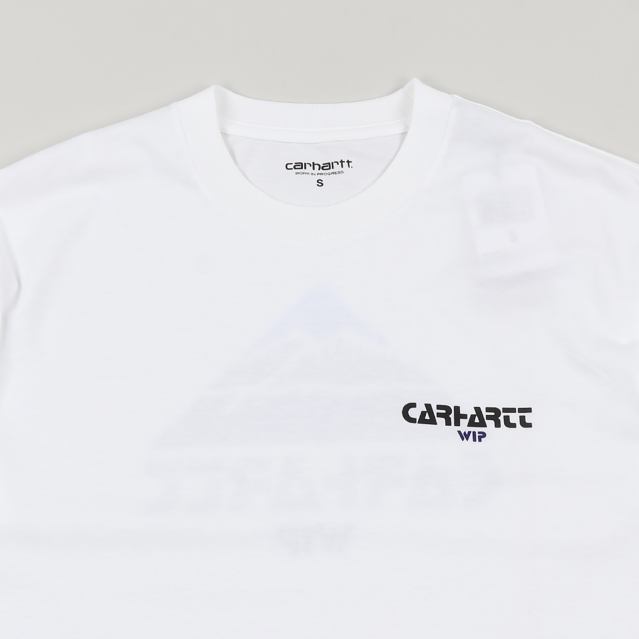 052e1bbb A short sleeved tee from Carhartt WIP made from 100% cotton in a soft  single jersey with a ribbed crew neck. Features original graphics to the  chest and ...