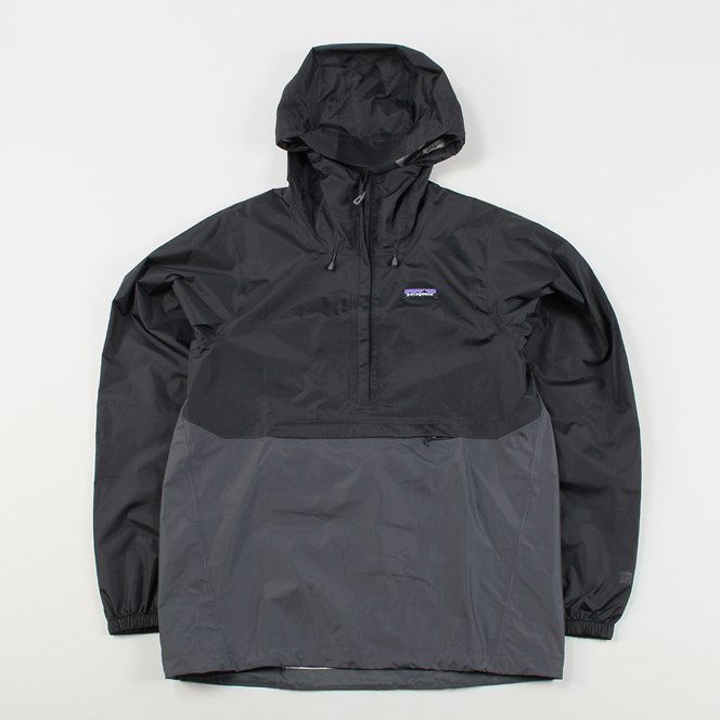 Patagonia Mens Torrentshell Pullover Jacket Black Grey
