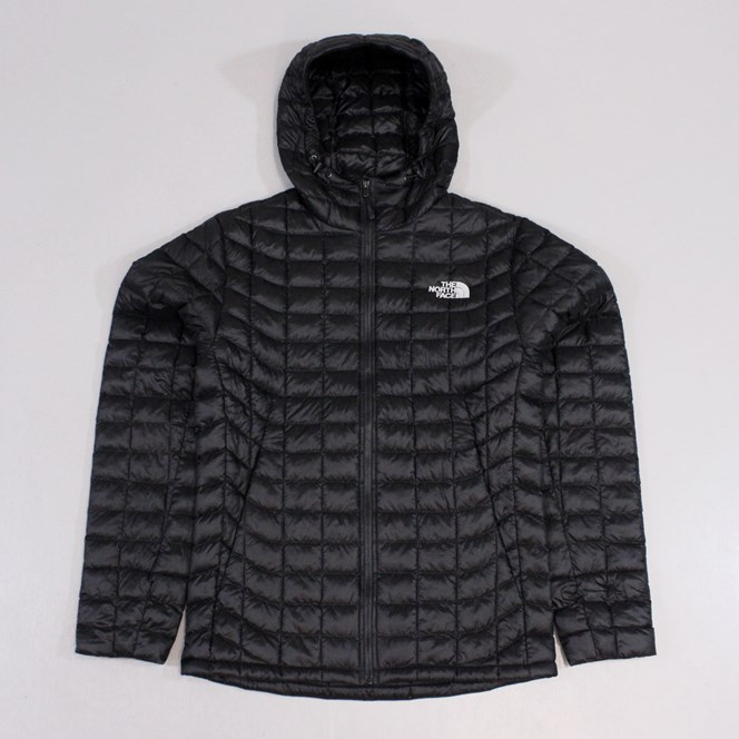The North Face Mens Thermoball Hooded Jacket Black