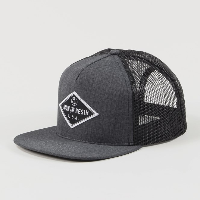 Iron And Resin Nelson Trucker Cap Charcoal
