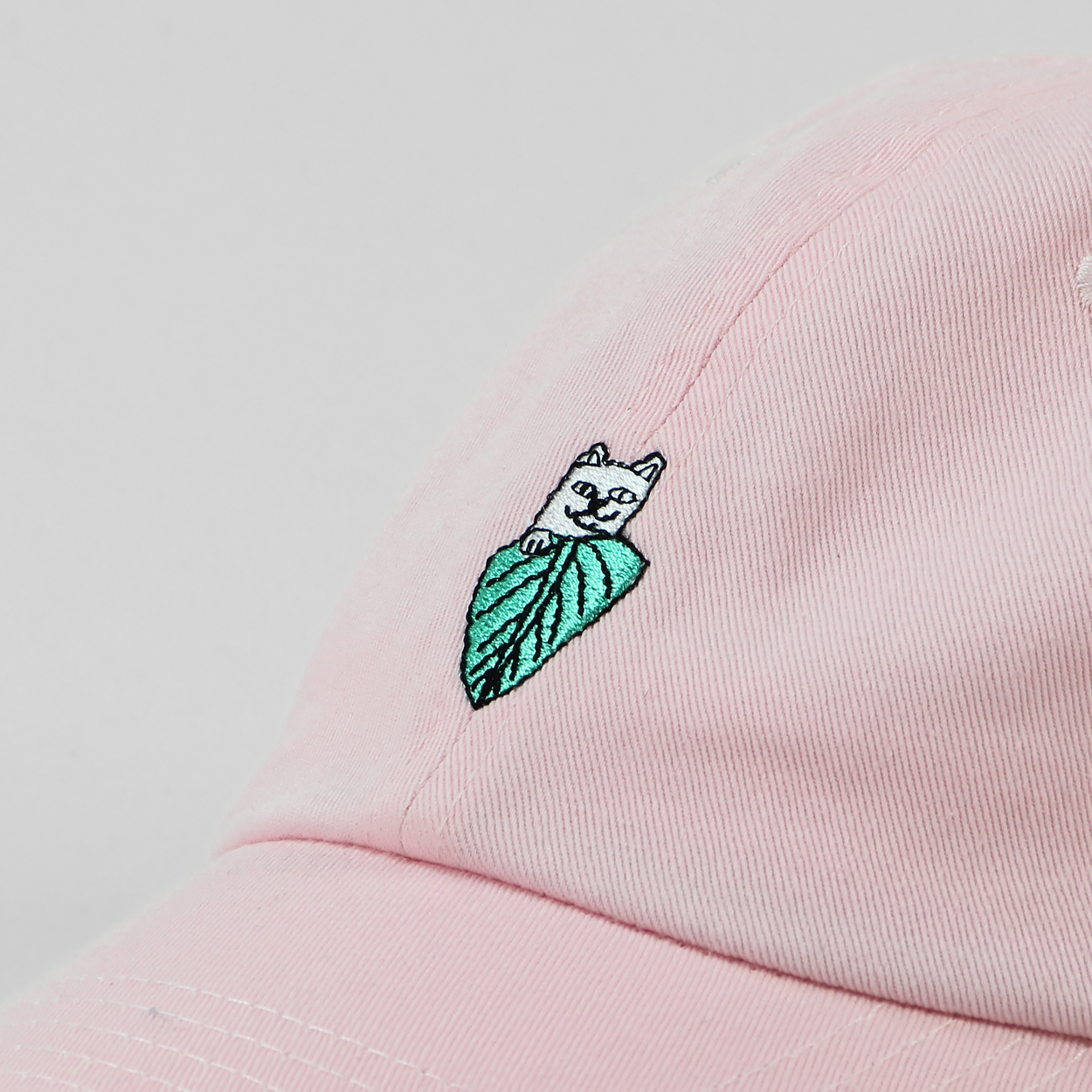 Ripndip Mens Nermal Leaf Dad Cap Light Pink One Size Fits Most £26.60 5483636bf33e