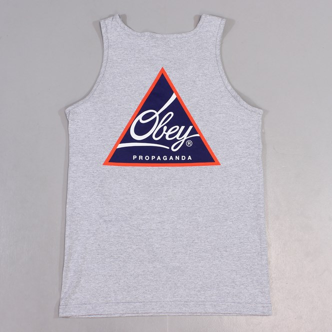 Obey Next Round Vest Heather Grey