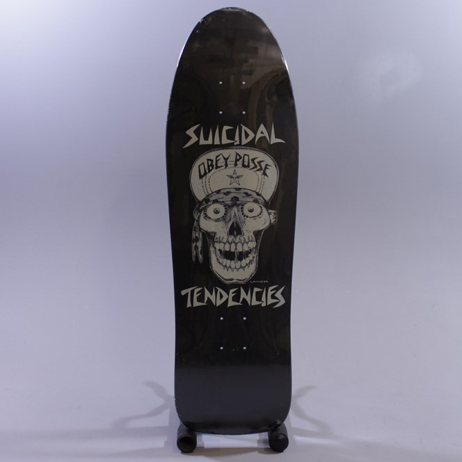 Obey Suicidal Tendencies Flip Cap Skull Deck Black