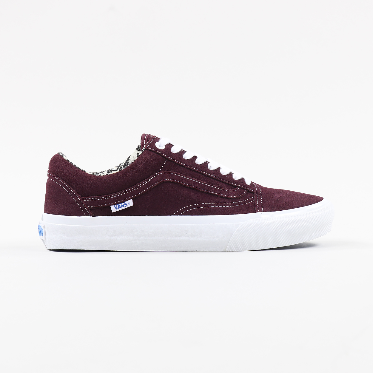22cb7a0568 Vans Mens Skate Old Skool Pro Ray Barbee Shoes OG Burgundy Red £51.00