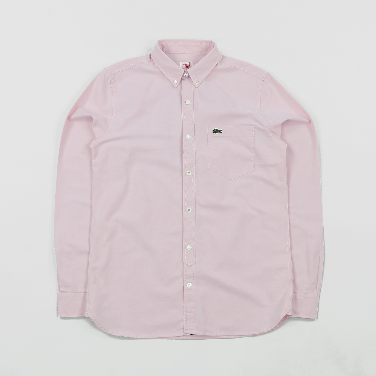 dc33e256 Lacoste Live Mens Long Sleeve Cotton Oxford Shirt Orchard Pink £37.50
