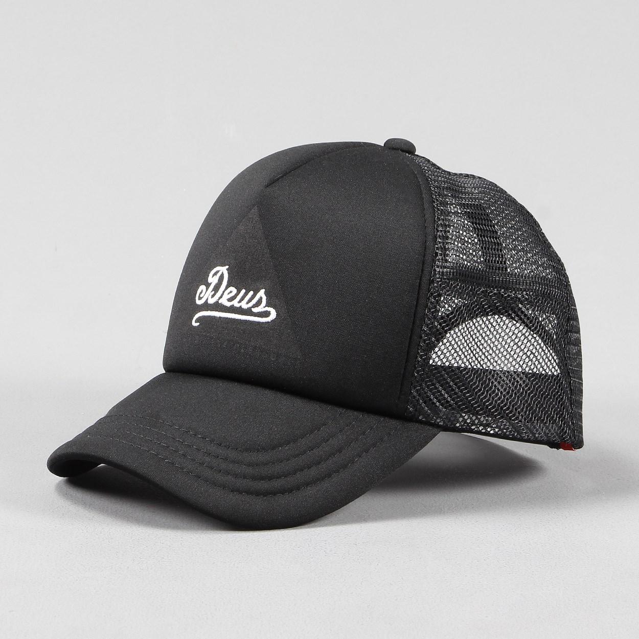 deus ex machina peak trucker cap hat black. Black Bedroom Furniture Sets. Home Design Ideas