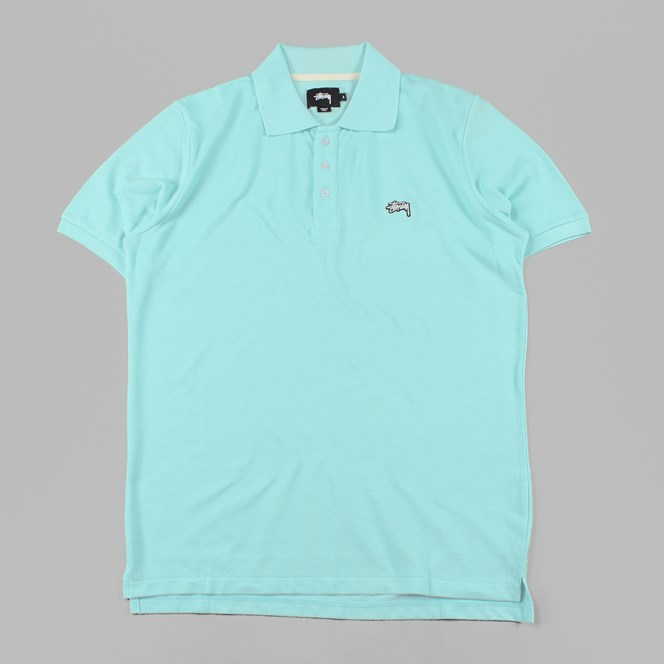 Stussy Pique Polo Shirt Teal
