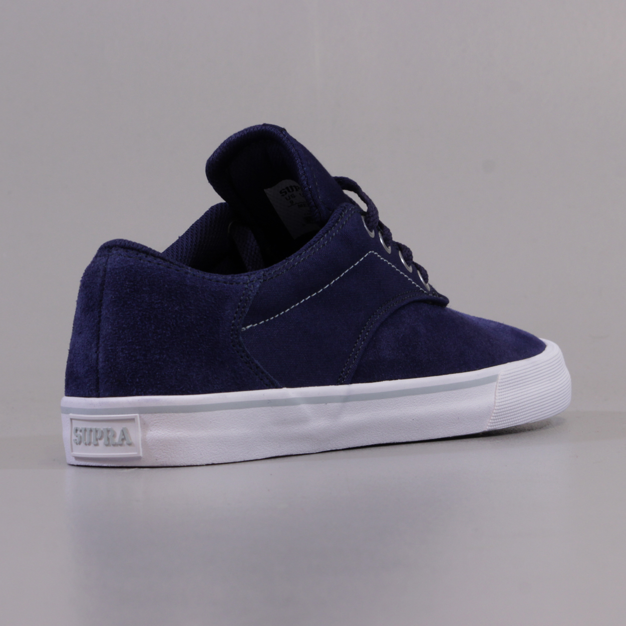 57f901cb04c6 The Supra Pistol Shoes in Peacoat Blue and White. Now I m not sure what  peacoat blue is because dark or navy blue will easily describe these shoes.