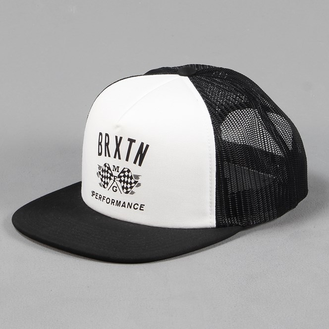 Brixton Piston Trucker Cap White Black