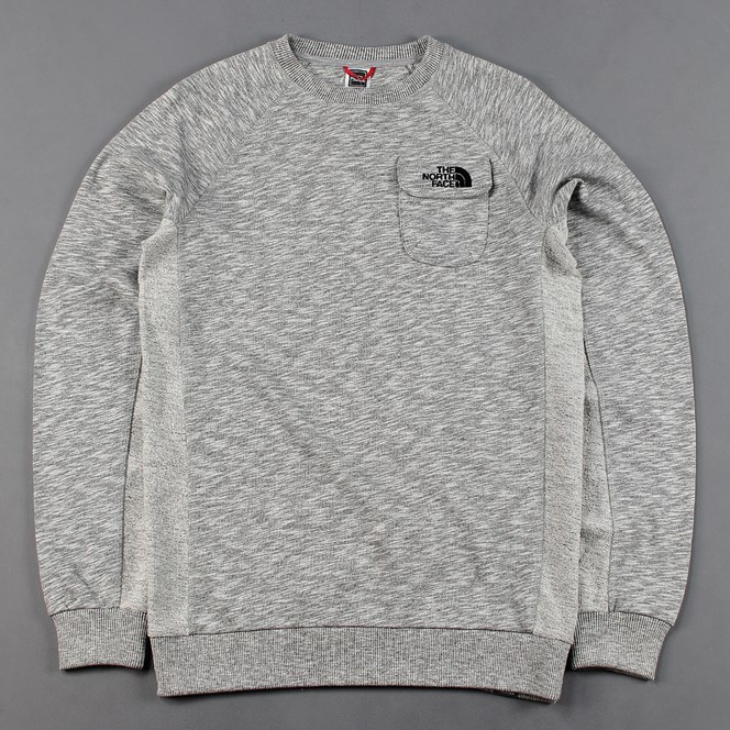 The North Face Pocket Crew Jumper Grey
