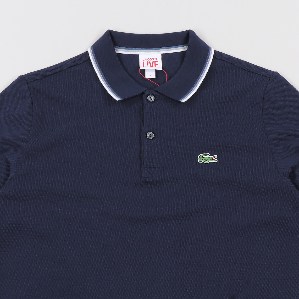 Lacoste Live Mens Short Sleeve Piped Neck Polo Shirt Blue
