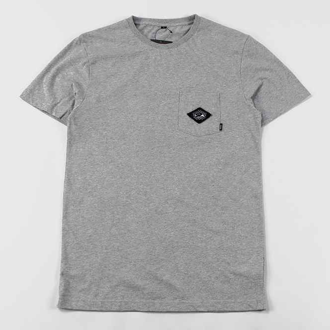 Finisterre Patch Pocket T Shirt Grey Marl