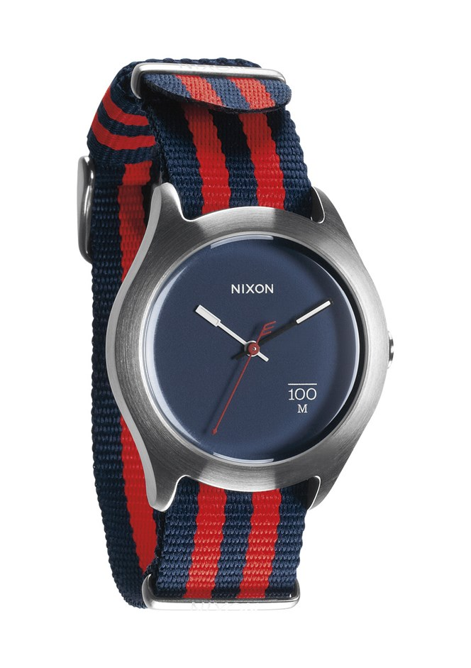 Nixon Quad Watch - Navy Blue and Red Nylon