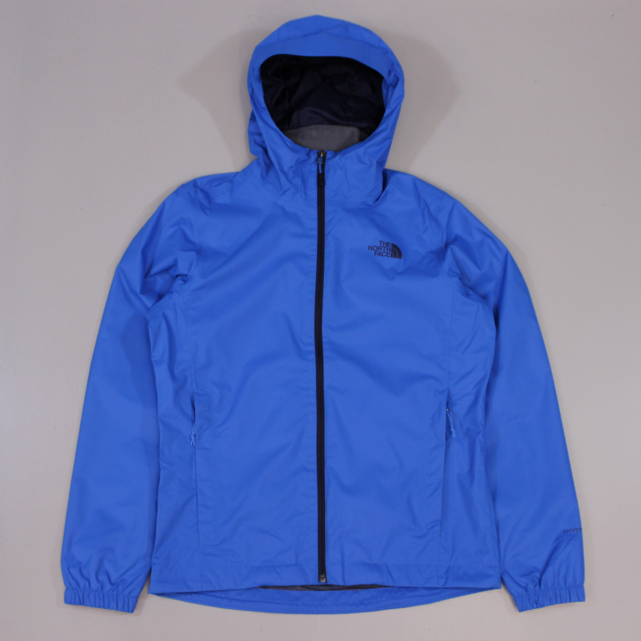The-North-Face-Mens-Quest-Jacket-Drummer-Blue-Waterproof-Coat-Outdoor-Zip-Hood