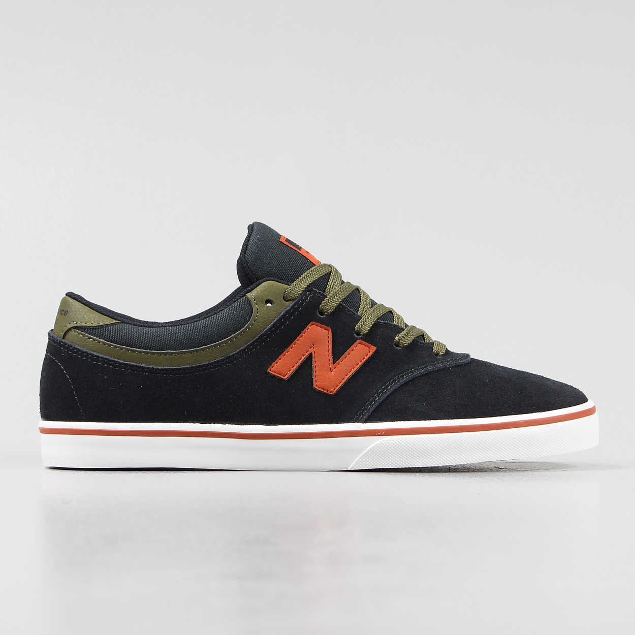 9d97322d37879 New Balance Numeric Mens Quincy 254 Shoes Black Red Trainers £38.50