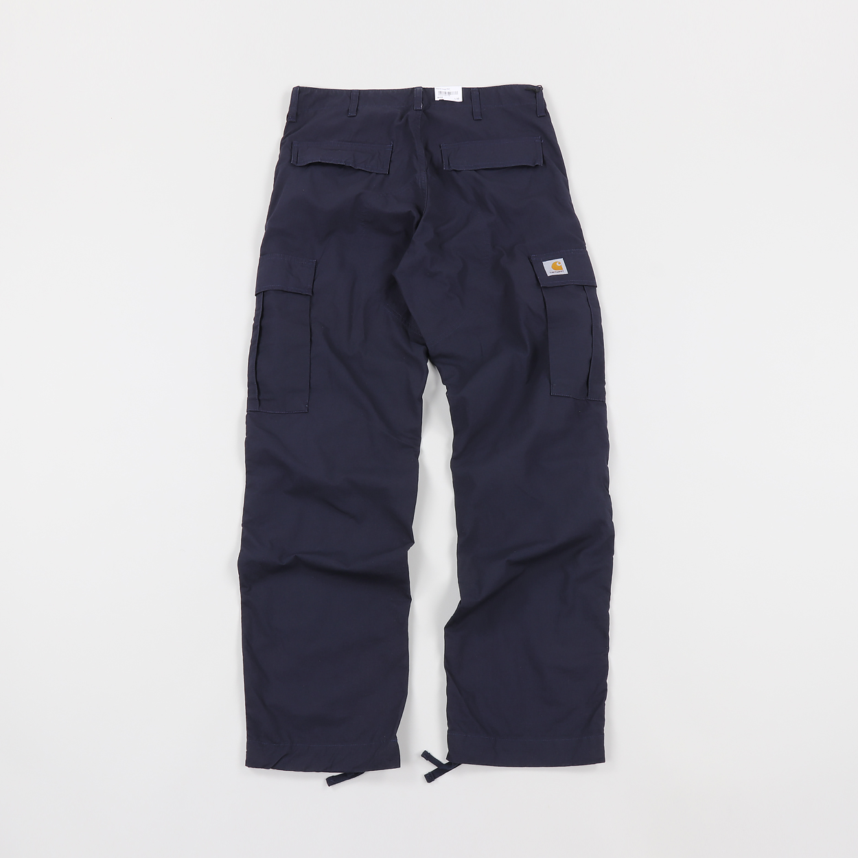 cheapest sale promo code new selection Mens Carhartt Regular Fit Cargo Pants Trousers Navy Blue ...