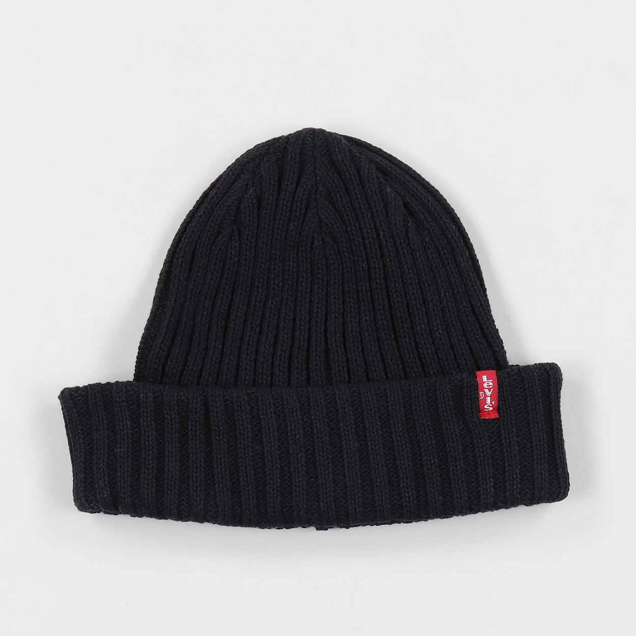 3b9480f3528 Levis Mens One Size Fits Most Ribbed Red Tab Cuff Beanie Black £15.60