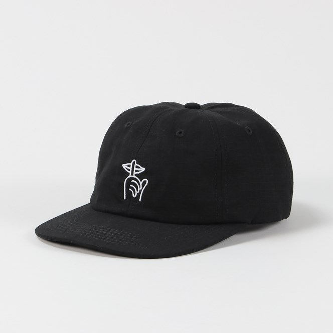 The Quiet Life Ripstop Shh Polo Hat Black