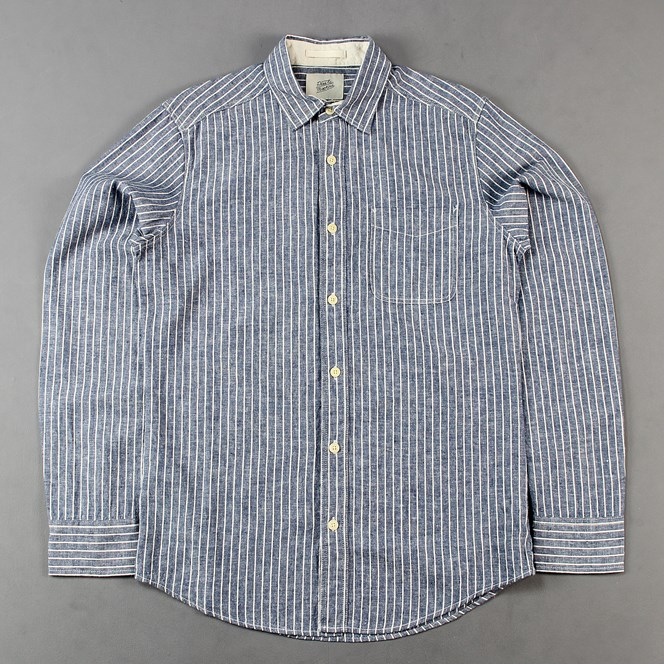 Deus Ex Machina Ralph Stripe Long Sleeve Shirt Chambray