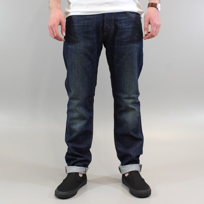 Edwin ED-55 Relax Tapered Jeans Blue Dark Used
