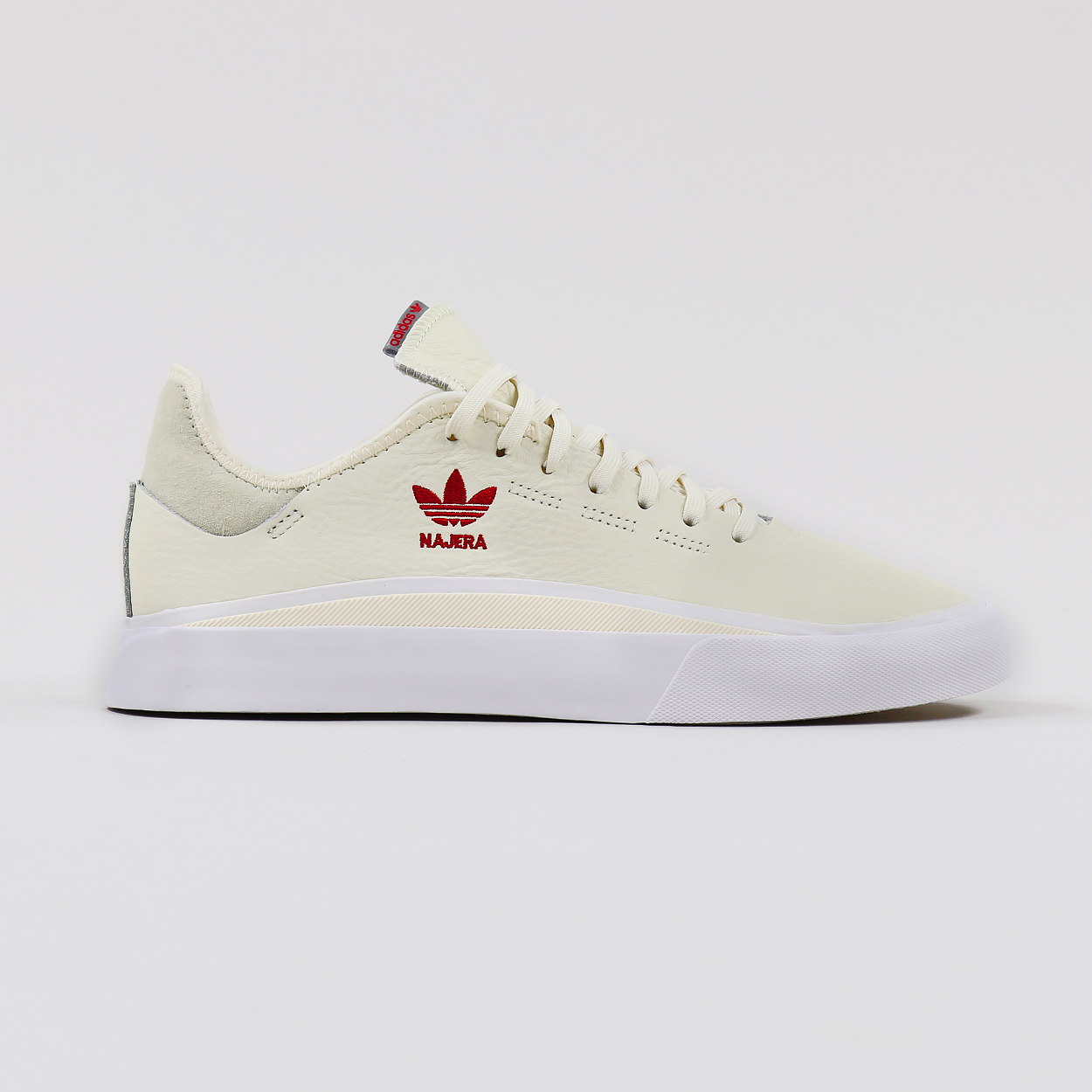 ec3b0633 Adidas Skateboarding Mens Leather Sabalo Trainers Shoes White Red £52.00