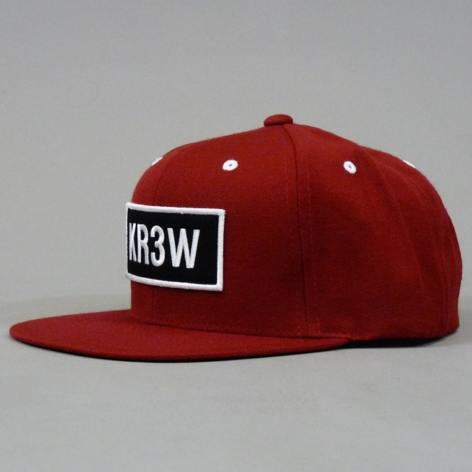 KR3W Seed Patch Snapback Cap - Red