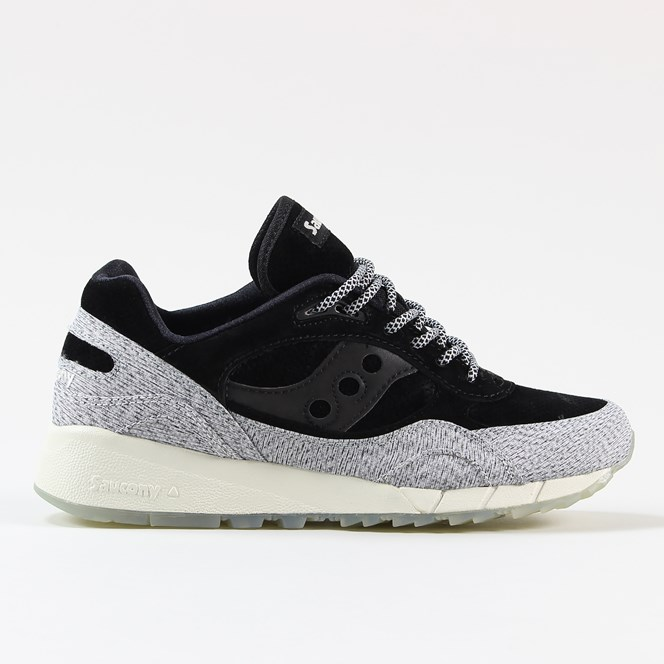 Saucony Dirty Snow II Shadow 6000 Shoes Black Grey