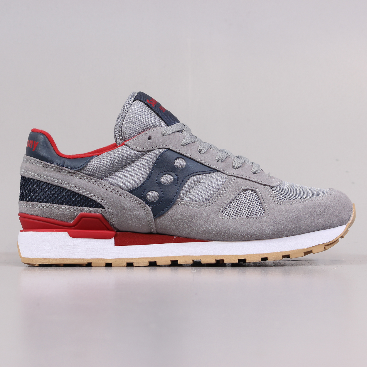 new products 3ba76 a7bec Saucony Shadow Original Mens Shoes Grey Red Retro Running ...