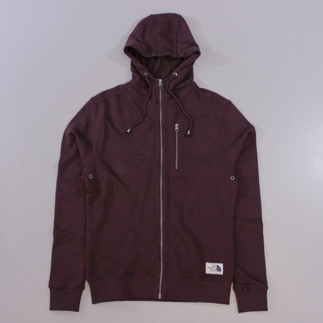 The North Face California Heritage Simple Dome Full Zip Hoodie Brown