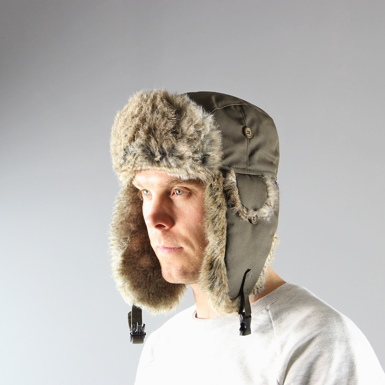 30cfdb73 Fjallraven Mens Singi heater faux fur lined winer hat green £47.25