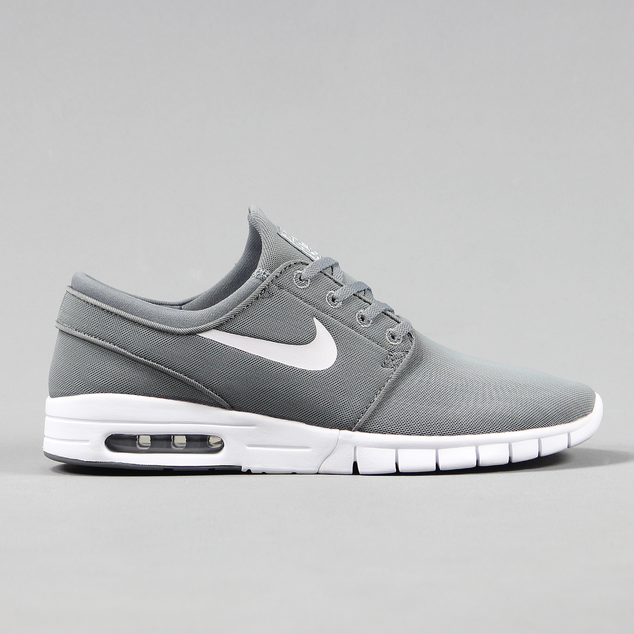 14bf9335d4 Nike SB Stefan Janoski Max Running Style Trainers Mesh Grey White £67.50