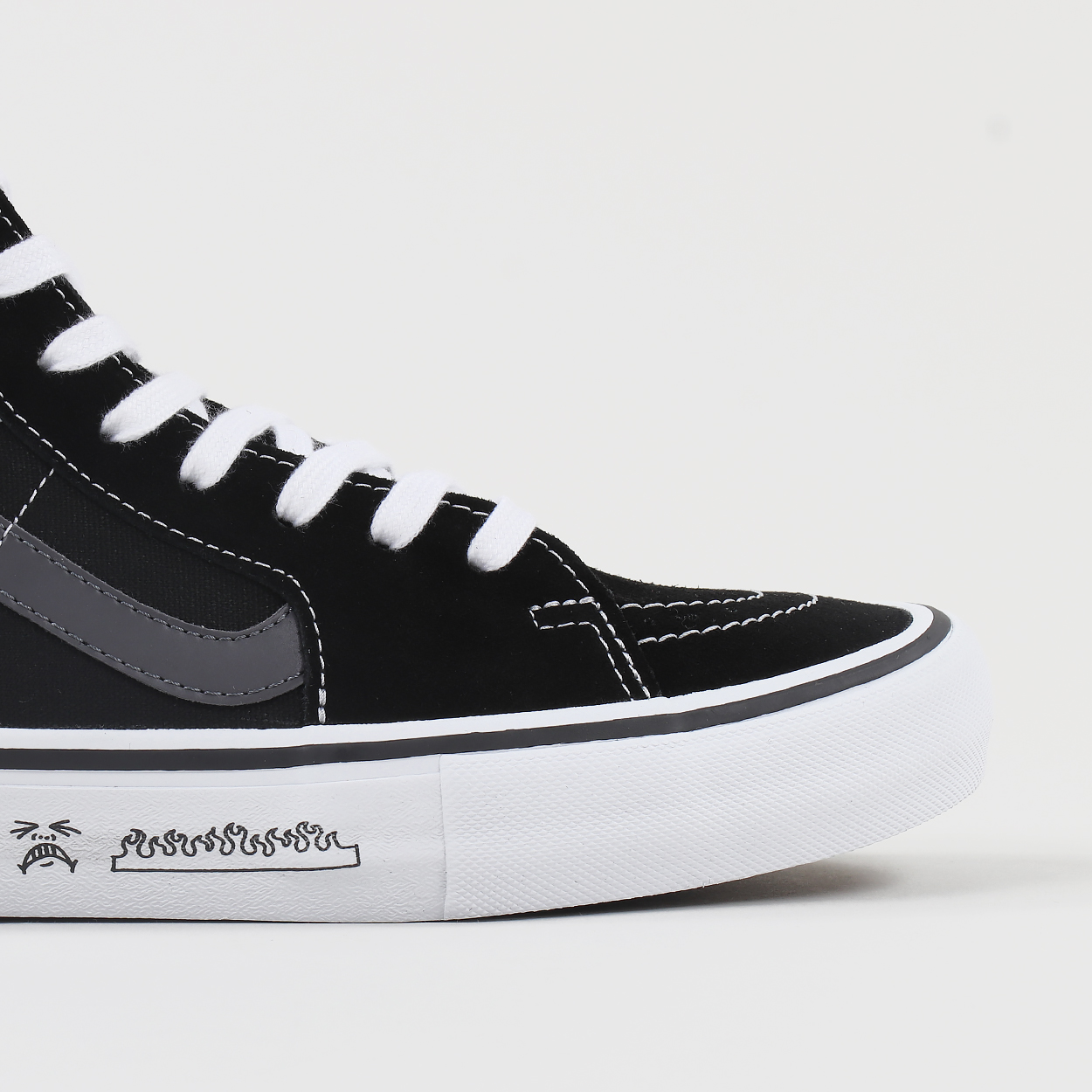 c3092324bfa131 A pair of Sk8-Hi Pro shoes from Vans  collaboration with BMX company Cult.  The shoes are made from suede