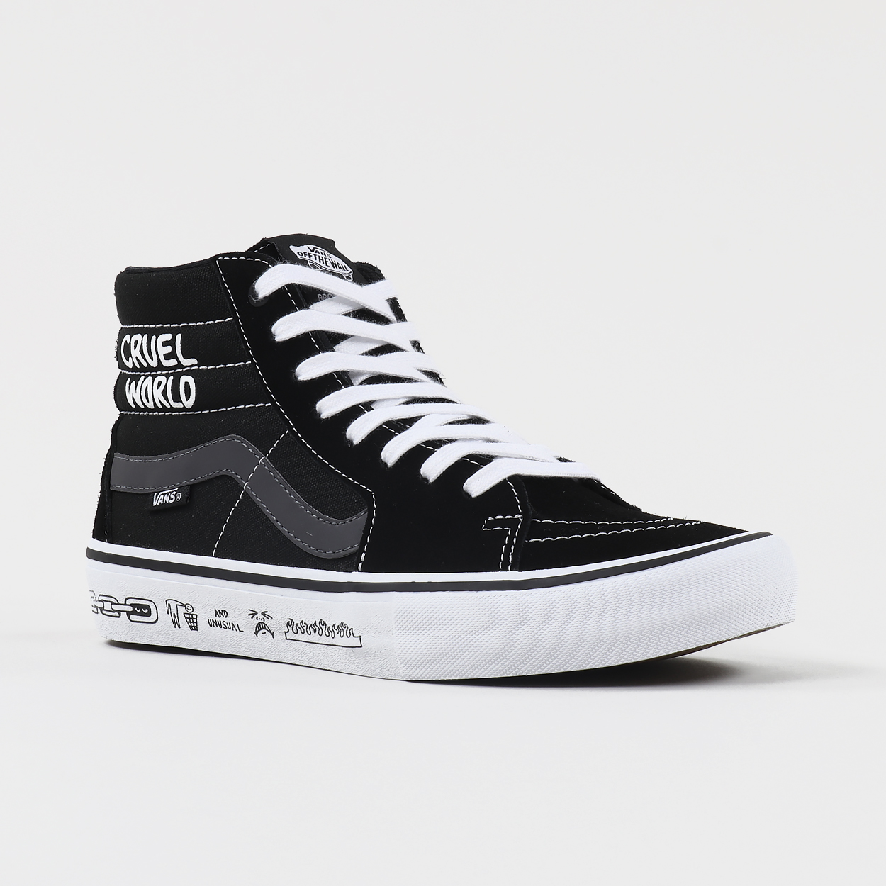 48f7f9485cb A pair of Sk8-Hi Pro shoes from Vans  collaboration with BMX company Cult.  The shoes are made from suede