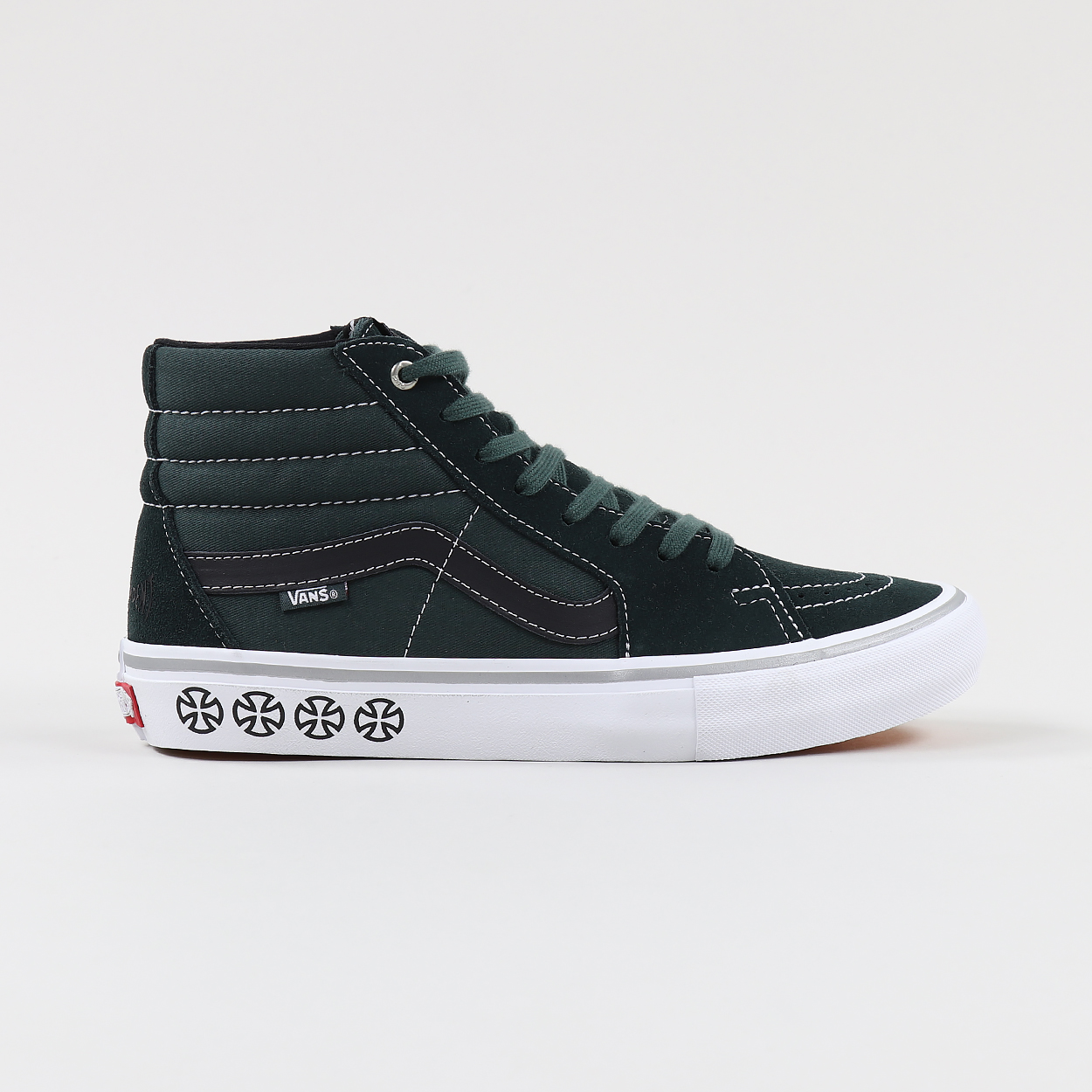 bb9a40ae1e081b Vans x Independent Mens Sk8 Hi Skate Pro Shoes Spruce Green £58.00