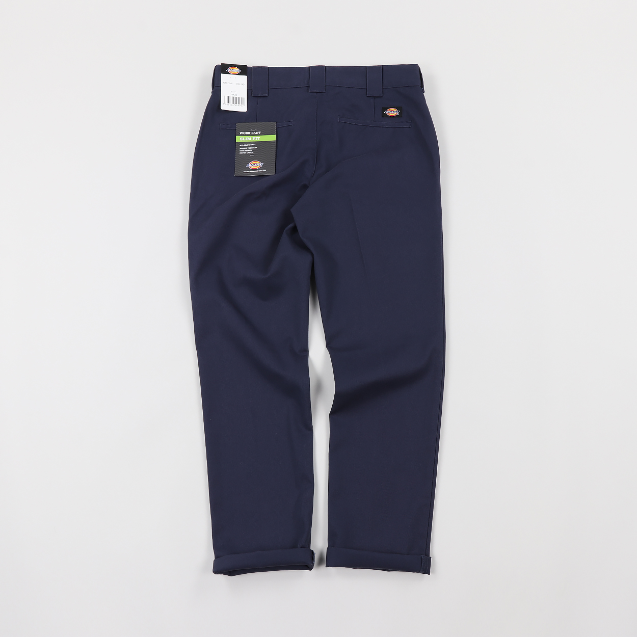 4984b0e8a838e3 A pair of slim fitting workpants from one of Dickies' most popular lines.  Made from a soft yet durable blend of cotton and polyester in a twill weave  with a ...