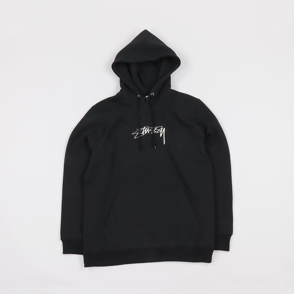Stussy Streetwear Smooth Stock App. Embroidered Hoodie Black £68.60 3a7d32c28