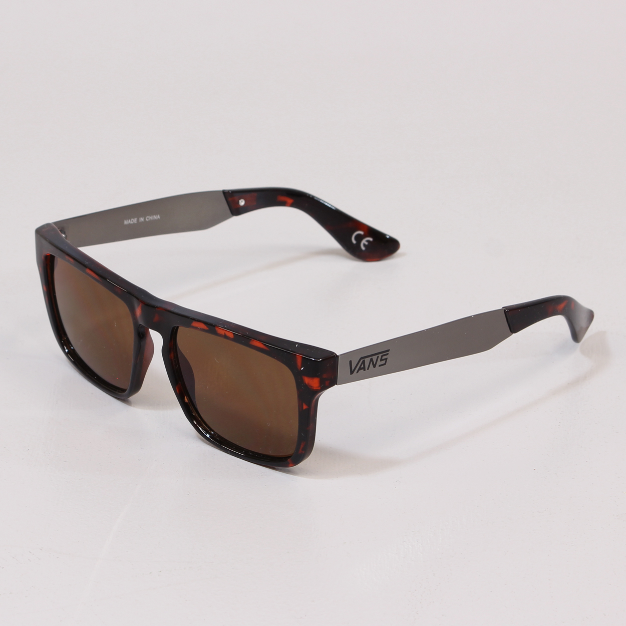 d42777cba0 Vans Squared Off Sunglasses Tortoise Brushed Silver Metal Shades £15.00