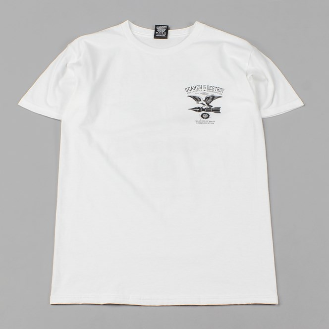 Obey Search and Destroy Back Print T-Shirt White