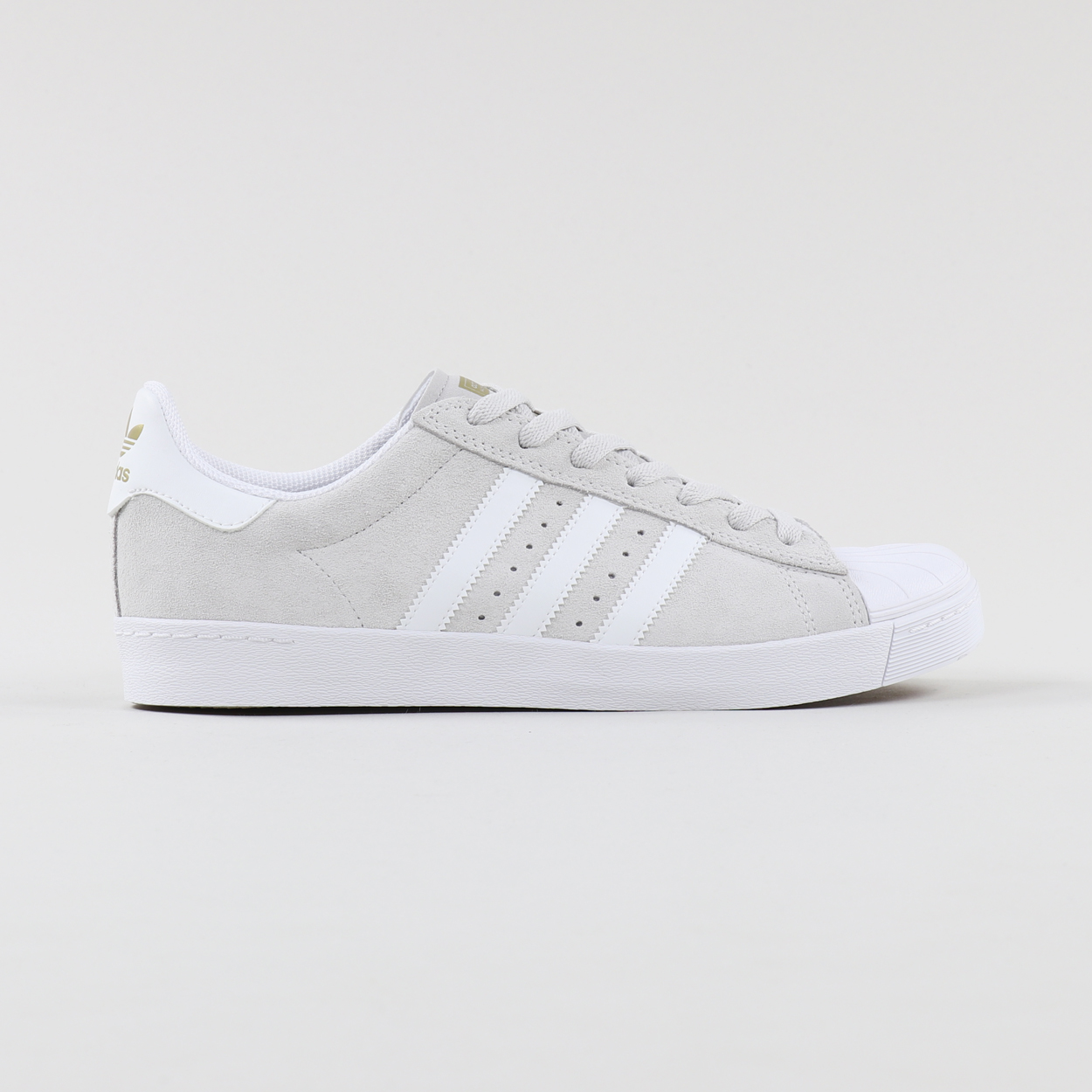 shepherd Wording Fjord  Adidas Skateboarding Superstar Vulc ADV Shoes Grey White Gold